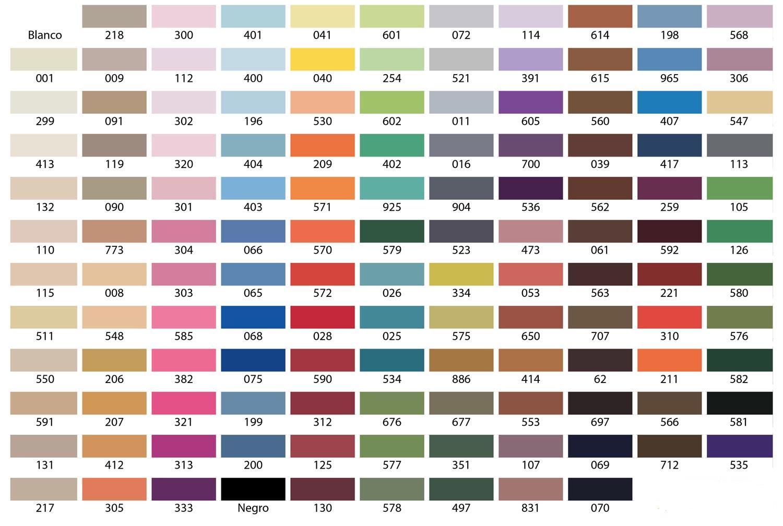 Catalogo colores poliamida cm comercial mapa - Carta de colores para interiores ...